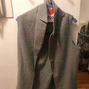 NWT Gray wool vest
